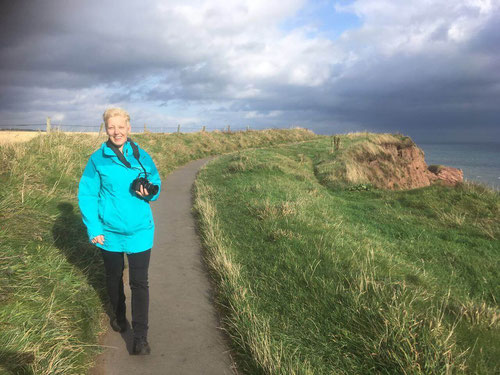 """Gone with the wind"" while walking the Arbroath Cliffs"
