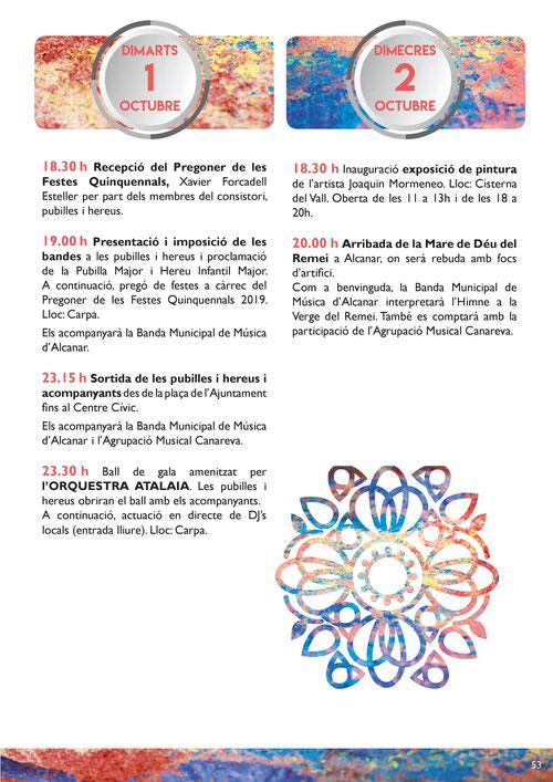 Festes del Remei en Alcanar Programa