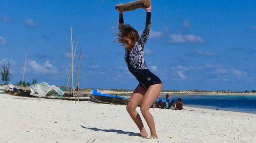 Pro surfer Leonor Fragoso Madagascar Training Camp Photo Rita Durães
