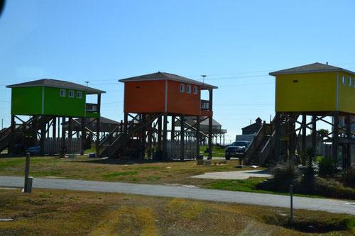 Typische Häuser auf Stelzen