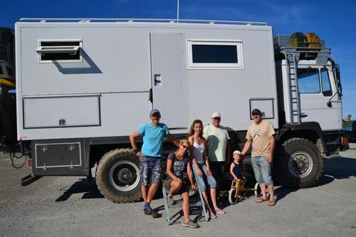 Sylvie, Jean, Luka, Bine, Markus und Nobbi