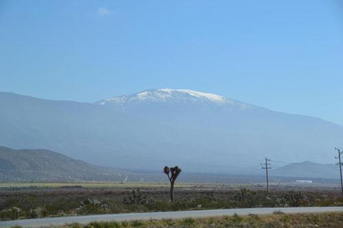 Schneebedeckter Gipfel der Sierra Madre - erinnert uns sehr an den Hohen Atlas in Marokko