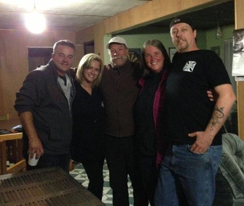 Michel, Katie, Nobbi, ich, Dennis (v. l. n. r.)