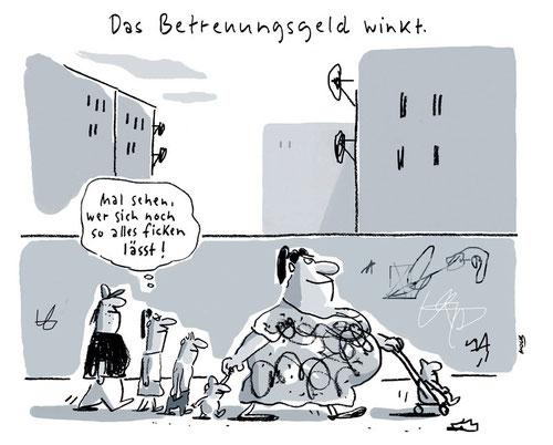 Cartoon von Mock zum Thema Familienpolitik