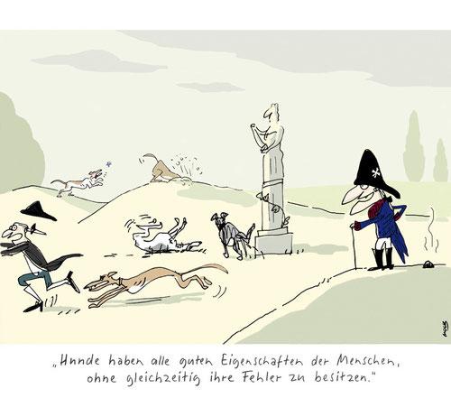 Cartoon von Mock zu Hunden