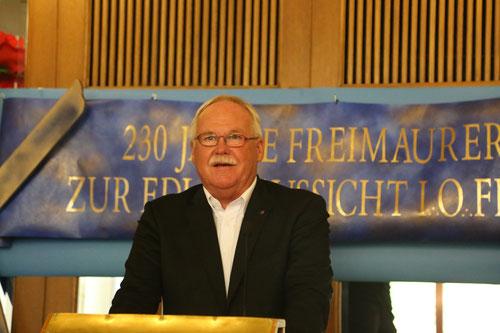 Referent Knut Schwieger vom Freimaurerorden