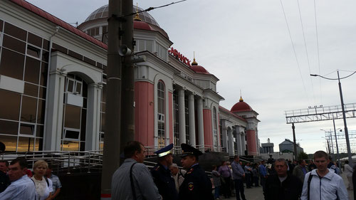 Angekommen in Saransk