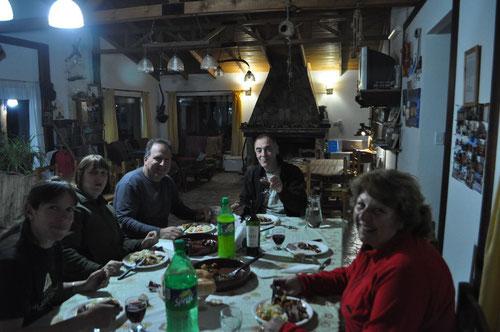 Cena con Laura y Daniel