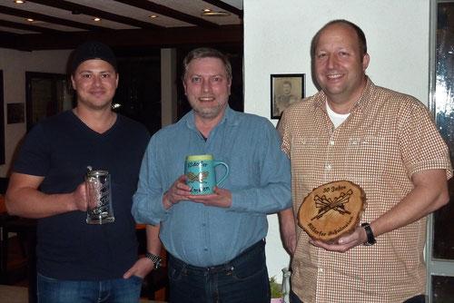 Die Jubilare Patrick, Adi und Stefan