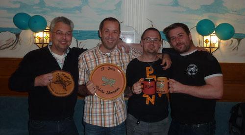Armin 30 Jahre, Wolfgang 25 Jahre, Christian und Sebastian 20 Jahre