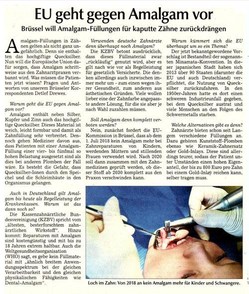 EU geht gegen Amalgam vor-Umwelt-Zahnmedizin Dr. Andreas Lozert
