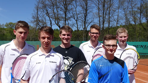 Von links nach rechts: Christian Hölting, Jonas Enste, Dennis Freisen, Tim Wutzler, Tristan Kaiser, Keno Haferkemper