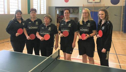 Damenmannschaft von lks. Elisabeth Müller , Martina Albers, Gertrud Voskuhl, Christa Voskuhl. Es fehlt Manuela Lakeberg.