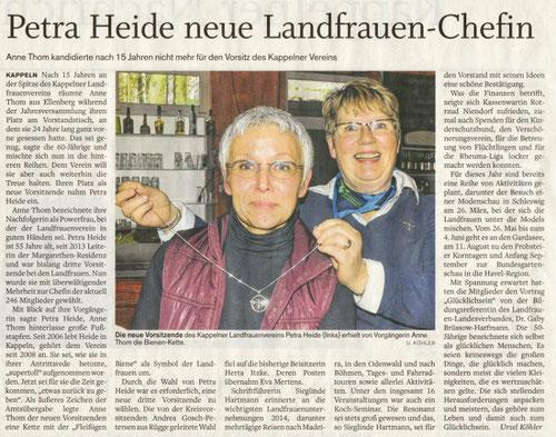 Petra Heide neue Landfrauen-Chefin