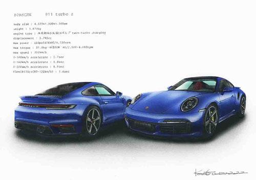 フォードマスタングのイラスト絵