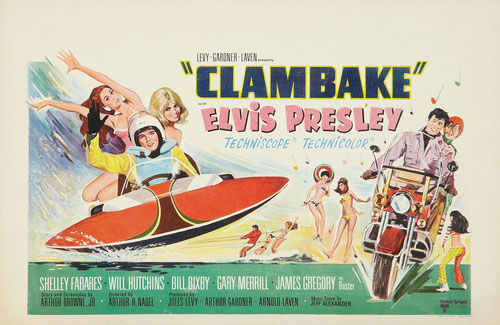 """Viel Klamauk im Film """"Clambake"""", in dem Elvis die Kingman intonierte."""