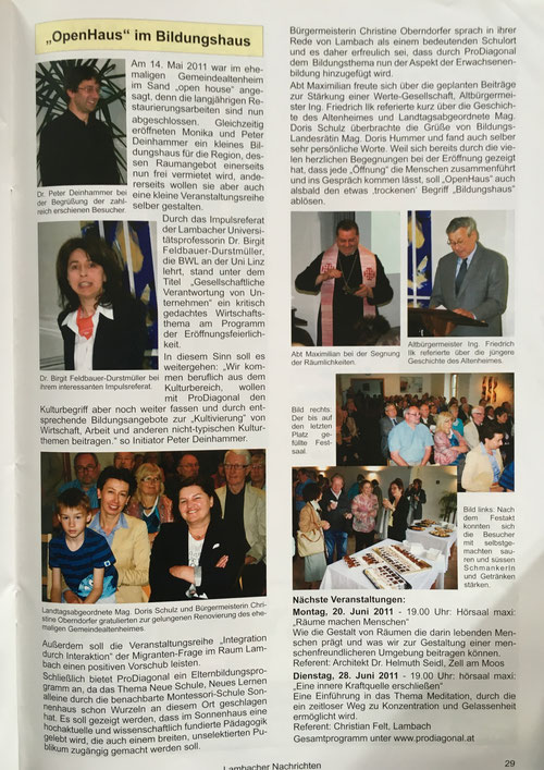 Lambacher Nachrichten, Ausgabe Juni 2011