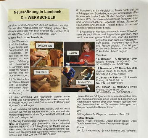 Lambacher Nachrichten, Ausgabe Oktober 2014
