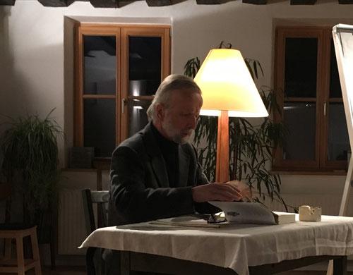 """5. April: Reinhard Wimmer liest aus """"Die Ethik"""" von Aristoteles"""
