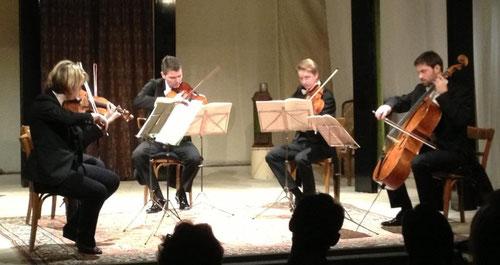 30. März 2014: Streichquintette  mit dem Adalbert-Stifter-Quartett, Linz (Clemens Rechberger a. G.)