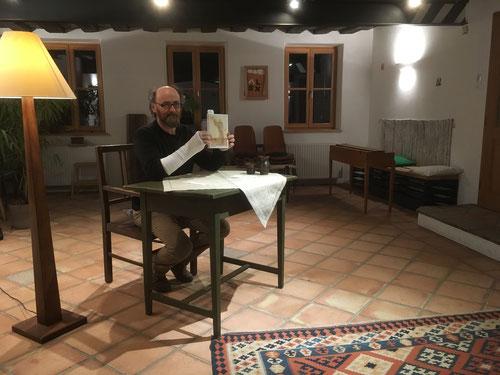 7. März 2018 - Johannes Kastinger liest aus dem Roman TIGOR von Peter Steph. Jungk