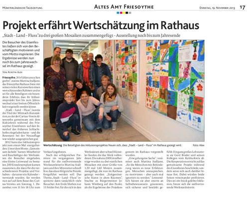Münsterländische Tageszeitung, 19.11.13, Bild/Text Kerstin Alex