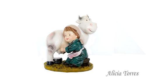 Pastora con vaca, de la colección Reilaflor