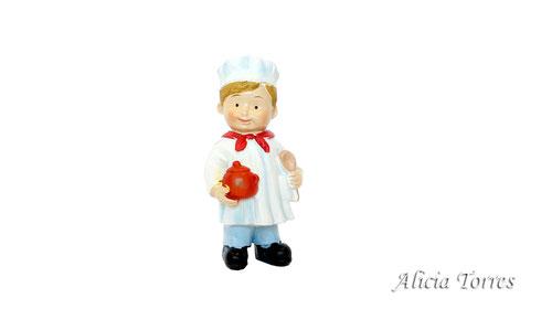 Cocinero, de la colección Naif