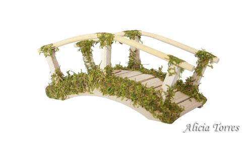 Puente curvo con musgo