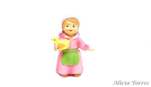 Pastora con pato, de la colección Naif