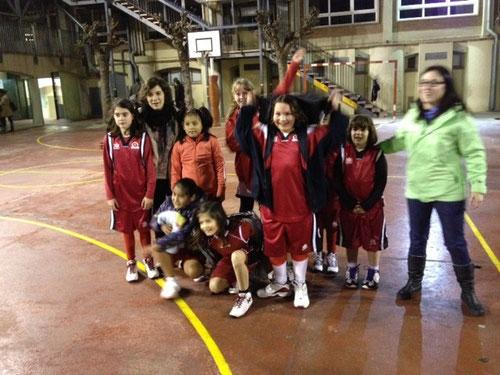 Fotografia del primer partit de les noies del Premini Femení.
