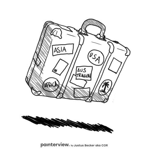 """Das painterview mit Justus Becker. Frage: """"Was macht Dich glücklich?"""" #painterview #artikoo"""