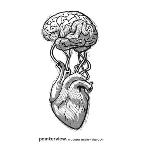 """Das painterview mit Justus Becker. Frage: """"Wo sitzt Deine Kreativität?"""" #painterview #artikoo"""