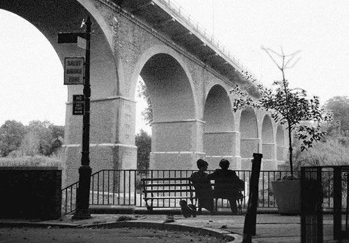 Manhattan (Woody Allen) al Pont de la Salut (Salut Bridge)