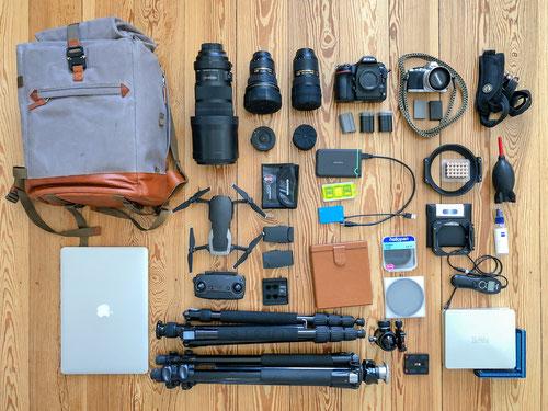 equipment fotografie und reise für wildlife und safari in afrika