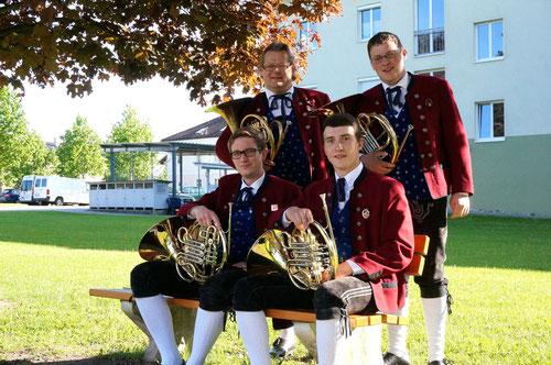 v.l.: Harald Murauer, Gottlieb Resch, Philipp Flotzinger, Josef Schamberger