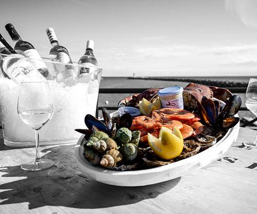 la perle Gruissanaise plateau de fruits de mers, dégustation