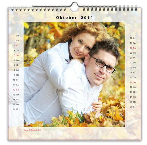 Fotokalender quadratisch 30x30 cm