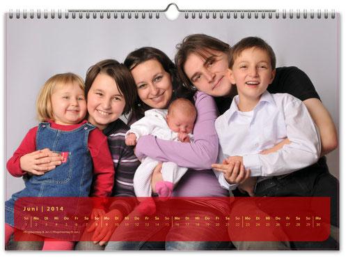Fotokalender Querformat 45x30 cm
