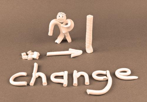 Knetfigur: Change