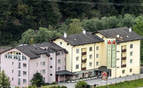 Restaurant Alpine Schiers, Restaurant auf gedeckter Terrasse