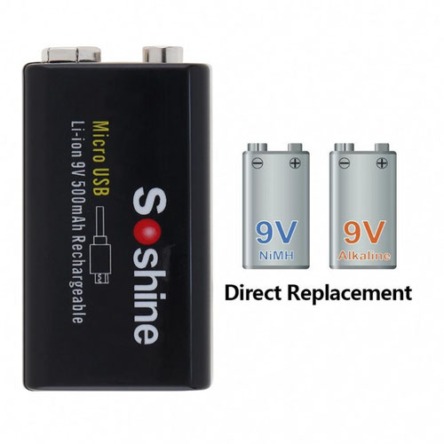 Soshine Li-ION КРОНА 500mAh USB