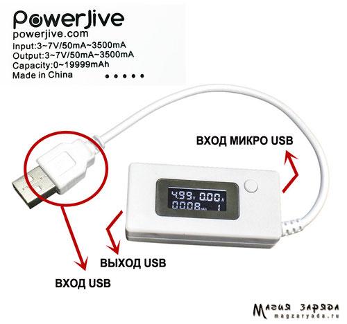 Тестер USB PowerJive