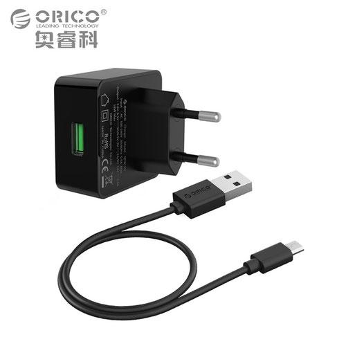 Сетевое зарядное устройство ORICO QCW-1U QC2.0