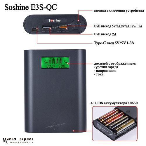 Soshine E3S-QC