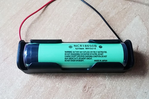 Батарейный отсек (держатель батарей) 1x18650