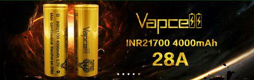 Vapcell INR21700 4000mAh 28A