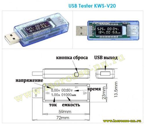 Тестер USB KWS-V20