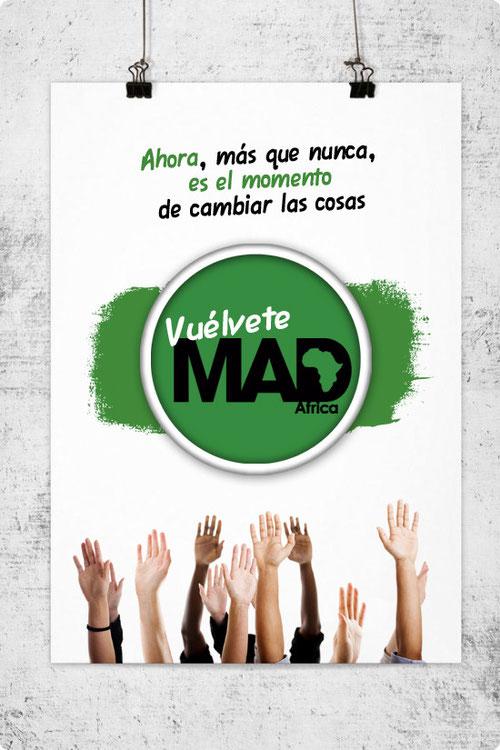 Cartel de la campaña Vuélvete MAD