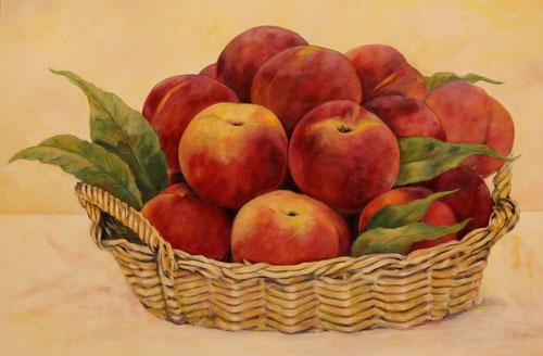 Nectarines - Olieverf op doek  120 x 80 cm